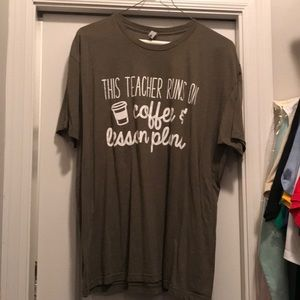 Teacher T-shirt/coffee and lesson plans for sale